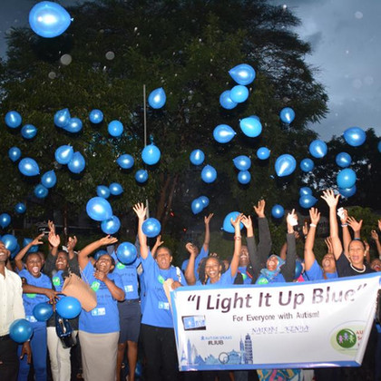Light it up Blue Night baloons
