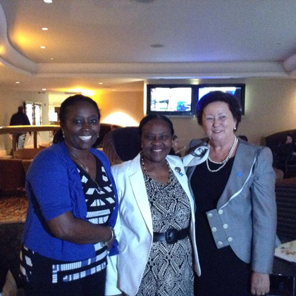 Rosemary Ogolla - Autism Society of Kenya. (L),Felicity Ngungu( Founder Autism Society of Kenya and Dr. Liri Beridha(Former First Lady of Albania and President ,Albanian Children Foundation.) at the 7TH ANNUAL WORLD FOCUS ON AUTISM EVENT IN NEW YORK
