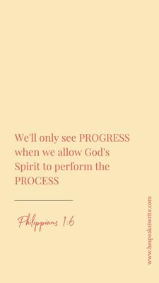 Process for progress