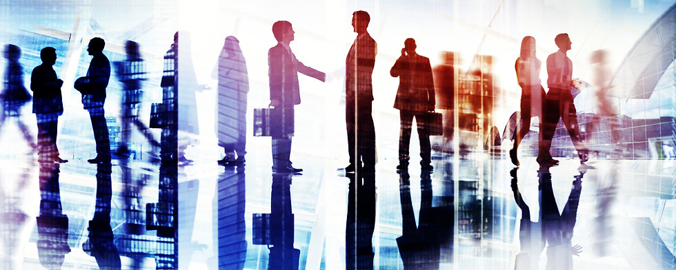 Abstract Image of Business Handshake in