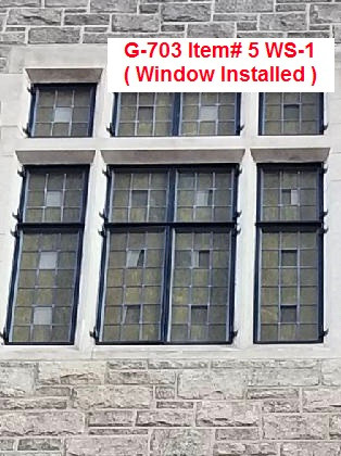 G-703 Item# 5 WS-1 ( Window Installed ).