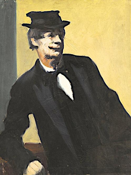 Portrait of a man sitting #2