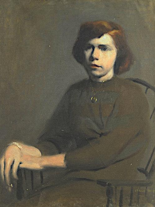 Portrait of a girl sitting