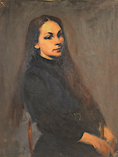 Portrait of a woman sitting #2