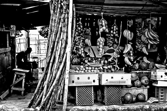 Roadside Fruitstall - en route Ochi to PortAntonio