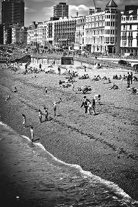 Day at the seaside - Brighton Beach UK