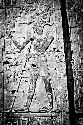 Hieroglyphics on wall of Hatshepsut Temple - Luxor