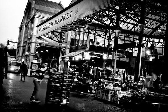 Old Borough Market at the break of dawn