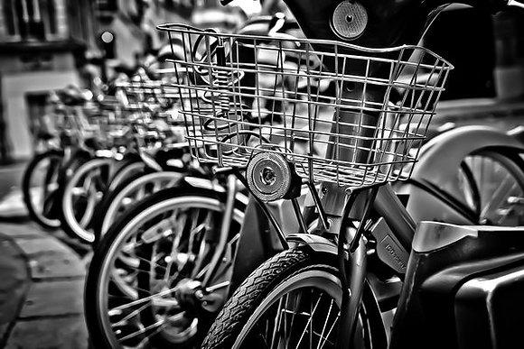Velib -bikes for public hire - Paris