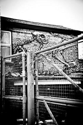Street art - Alien in the doldrums - EastDulwichUK