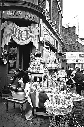 Vintage tea & chamber pots - Notting Hill