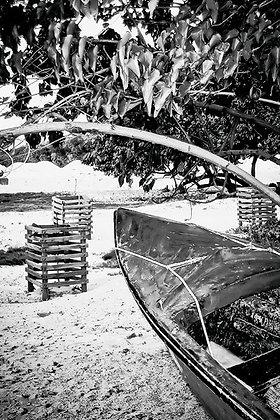 Old canoe – beach, Long Bay Portland