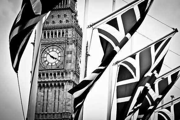 Union Jacks flying high over Big Ben