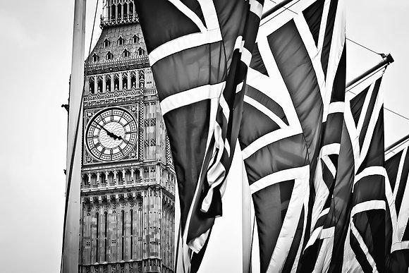 Union Jacks over Big Ben - Westminister (2)