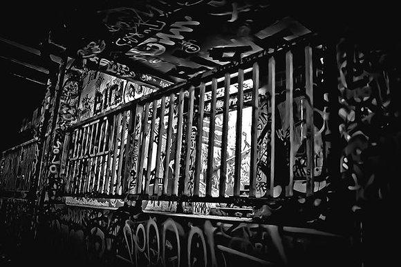 Light through railings - Waterloo