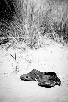 Crocks in the dunes - Camber Sands Beach Sussex UK