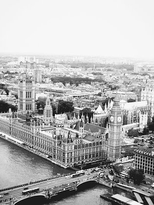 Birdseye view of Westminister &  SW London