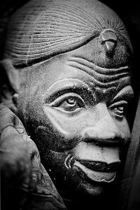 Beautiful African female face mask - Nairobi Kenya