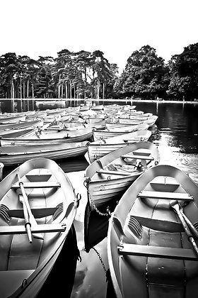 Old rowing boats (4) - Lac Bois de Bologne Paris