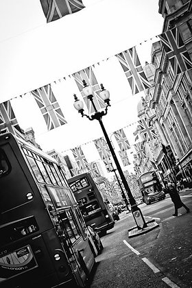 Union Jacks over Regents Street