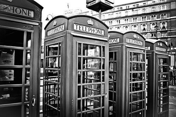 Old english telephone boxes