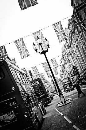 Union Jacks over Regent Street