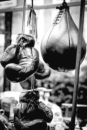 Vintage boxing gloves & punch bag - Portobello Mkt