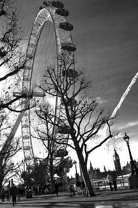 Strolling lovers - London Eye  - Westminister SW1