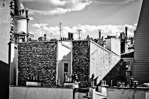 Chimney pots & rooftops of Paris