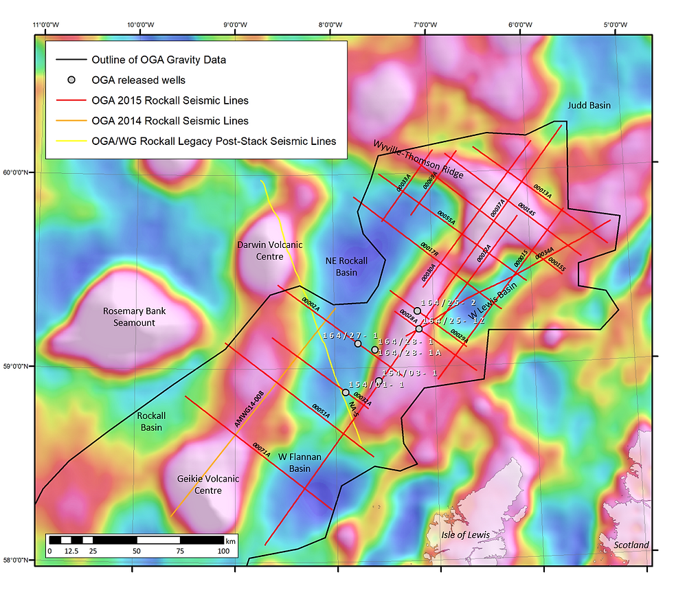 Data coverage for the Structural Atlas of the NE Rockall Basin