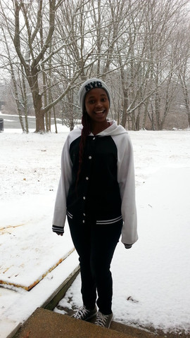 Phelele's first semester at Gallaudet is welcomed by snow