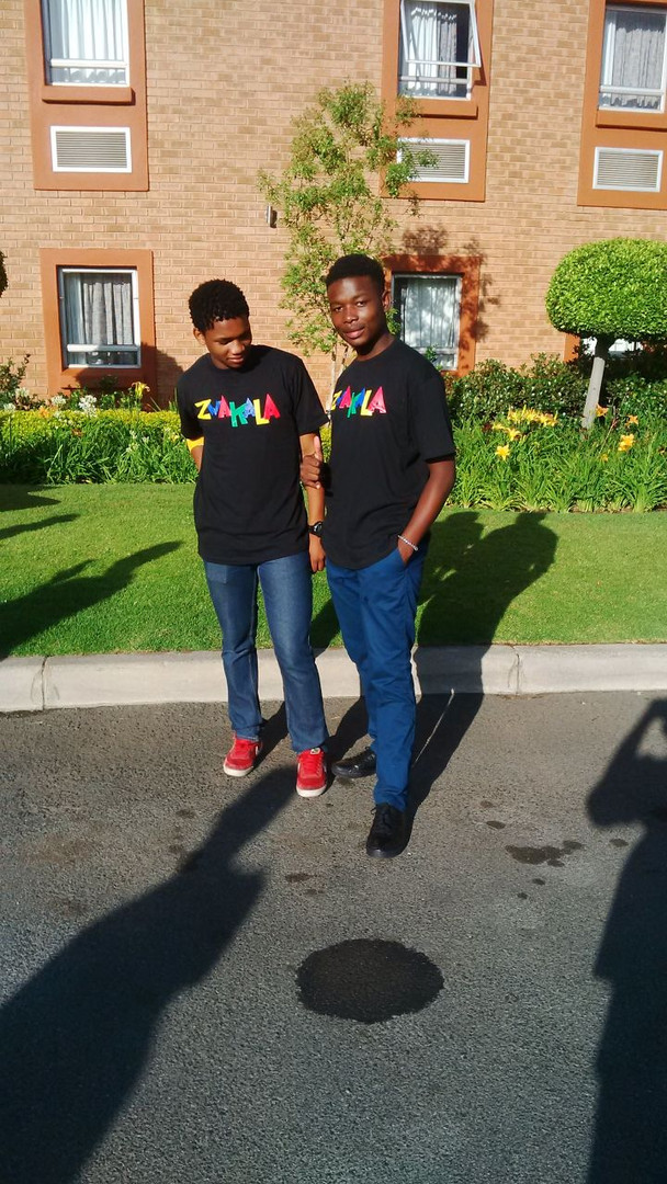 Bongani and Mbeketeli awaiting the Zwakala competition