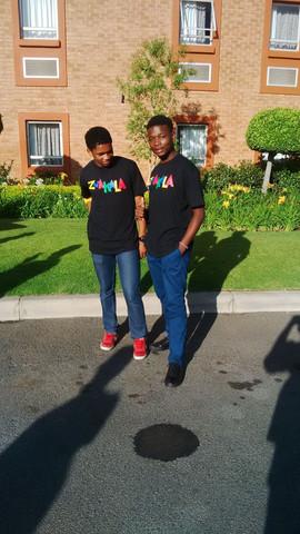 Bongani and Mbeketeli awaiting the Zwakala competition
