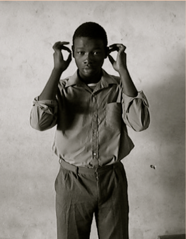 Bongani demonstrating his Sign Name