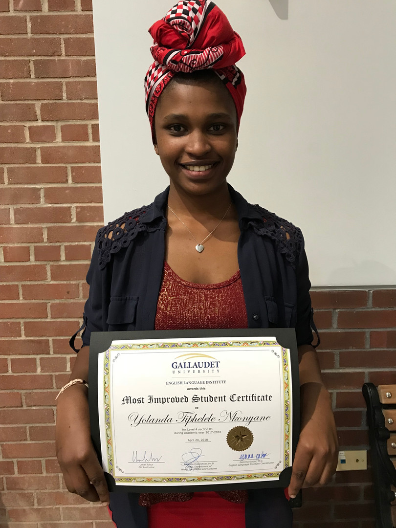 Phelele proud to show-off her academic award