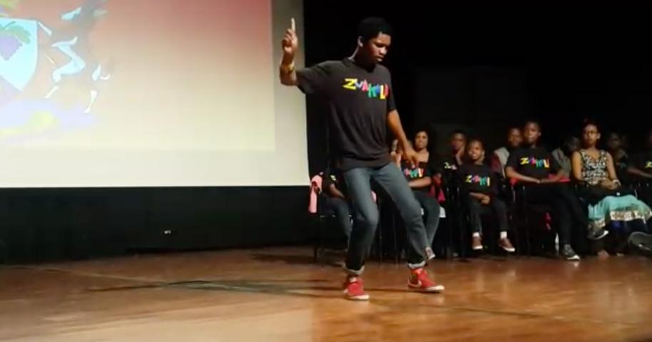 Mbeketeli impressing the judges with his dance routine at Zwakala