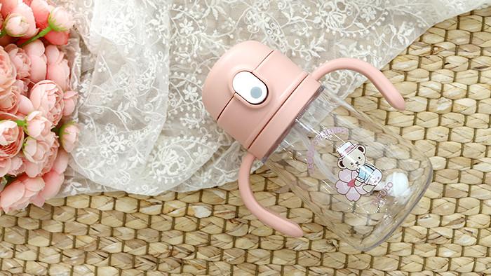 2in1 트라이탄 빨대컵 360mL 핑크