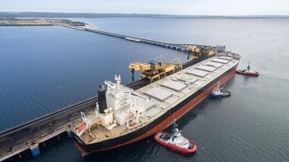 The port of Nacala in Mozambique is sending coking coal to Japan.