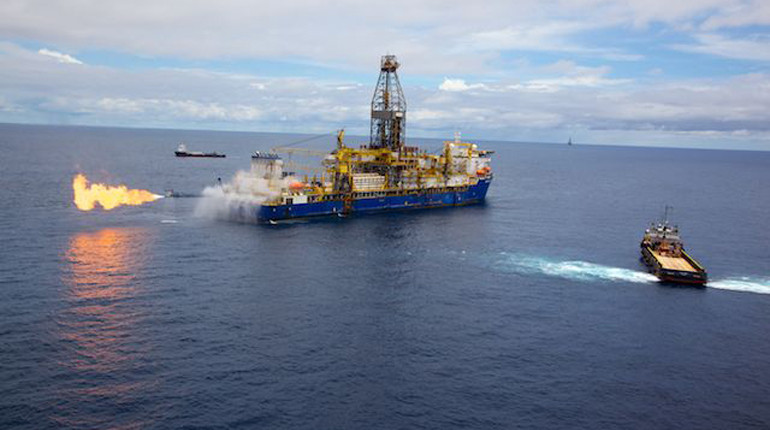 A gas flow test off Mozambique's coast. Progress on Anadarko's FLNG project is moving slowly. (Anadarko)