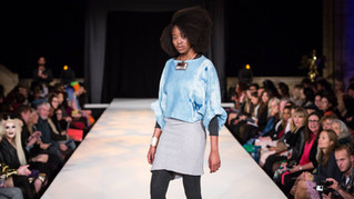 With Milkweed for the Sustain Catwalk,   Brighton Fashion Week 2015.