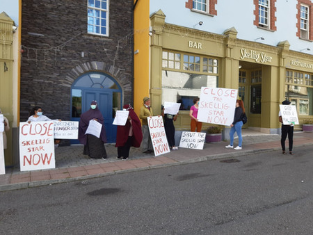 Asylum seekers go on hunger strike to protest inhumane living conditions at Direct Provision centre