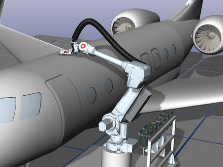 First Aerospace Installation Of Roboticom's Surface Finishing Robot SandRob