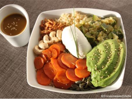 Veggie Bowl sans prétention, mais avec une sauce de folie !