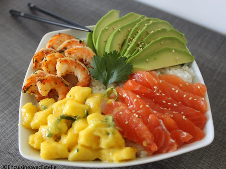 Poke bowl saumon avocat & mangue