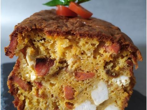 Cake au poulet, chorizo et tomates séchées