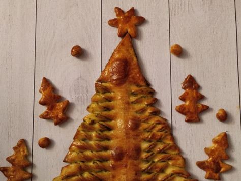 Sapin de Noël au pesto vert