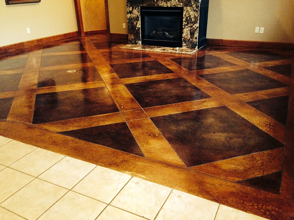 Concrete Stain Designs : Owens concrete staining oklahoma city