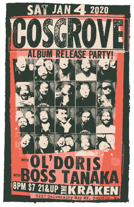 Cosgrove Gig Poster