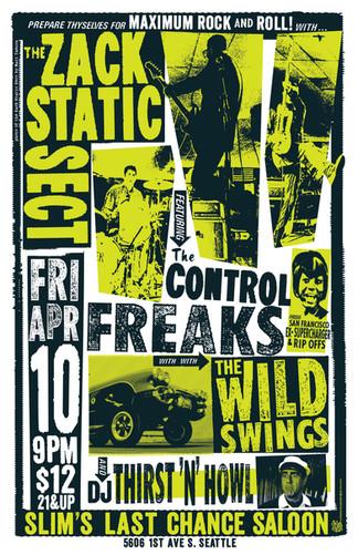 Zac Static Gig Poster