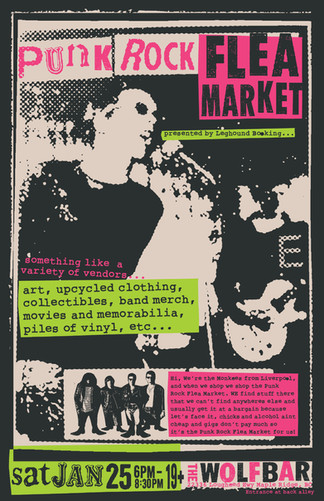 Punk Rock Flea Market Poster